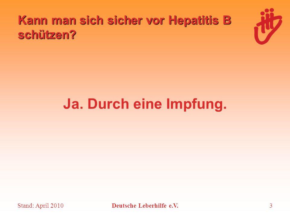 Kann man sich sicher vor Hepatitis B schützen