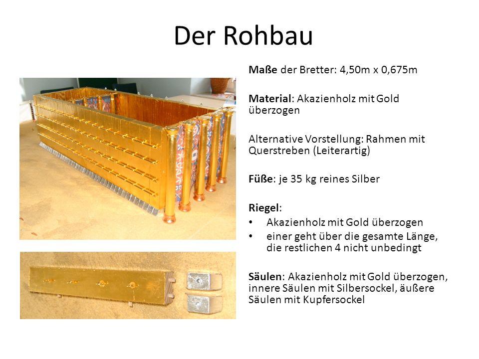 Der Rohbau Maße der Bretter: 4,50m x 0,675m
