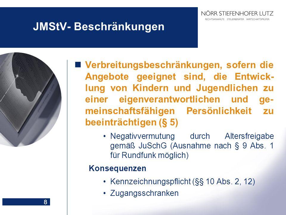 JMStV- Beschränkungen
