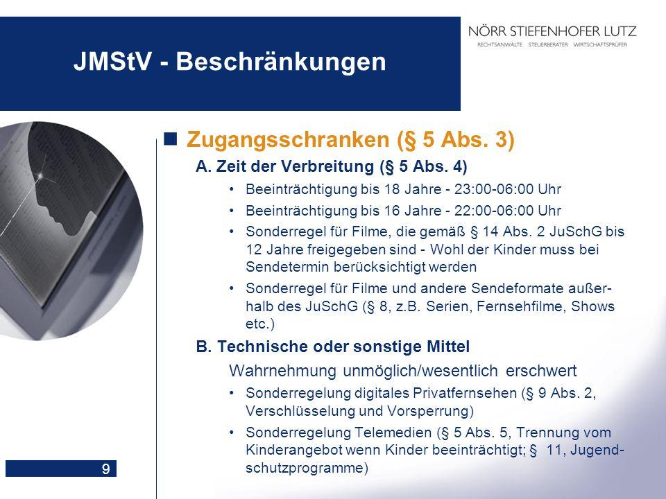 JMStV - Beschränkungen