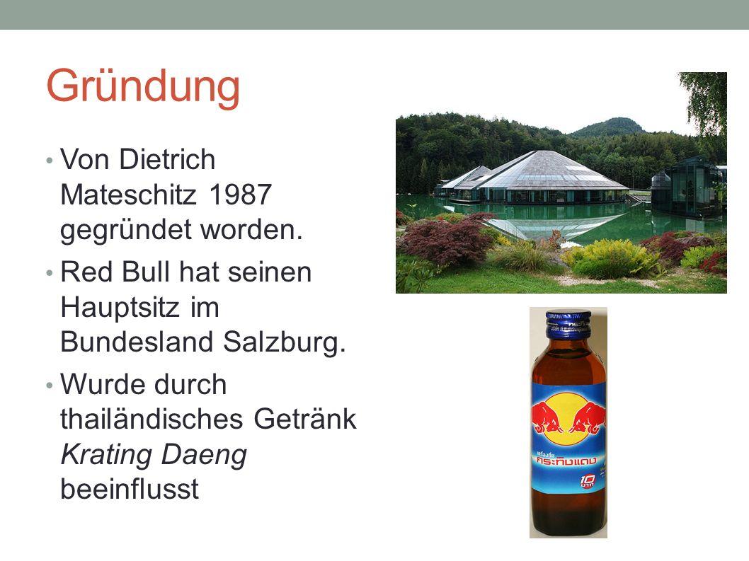 Gründung Von Dietrich Mateschitz 1987 gegründet worden.