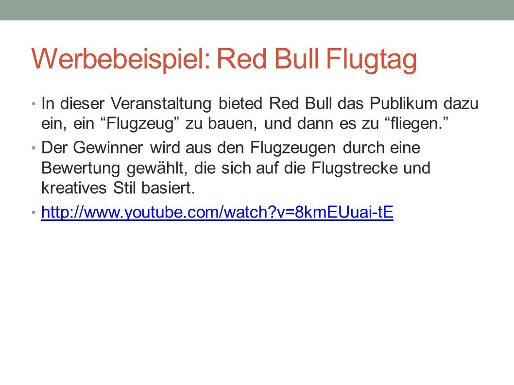 Werbebeispiel: Red Bull Flugtag