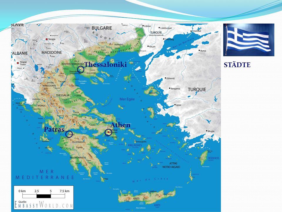 Griechenland Thessaloniki STÄDTE Athen Patras