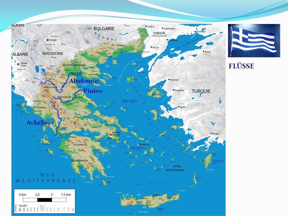Griechenland FLÜSSE Aliakmon Pinios Acheloos