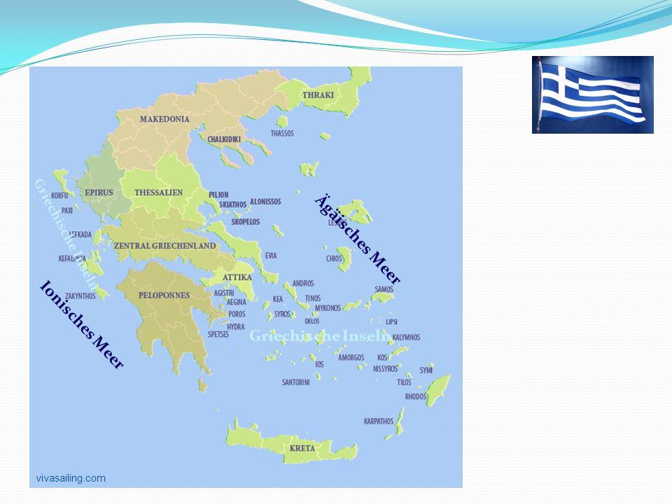Griechenland Ägäisches Meer Ionisches Meer Griechische Inseln