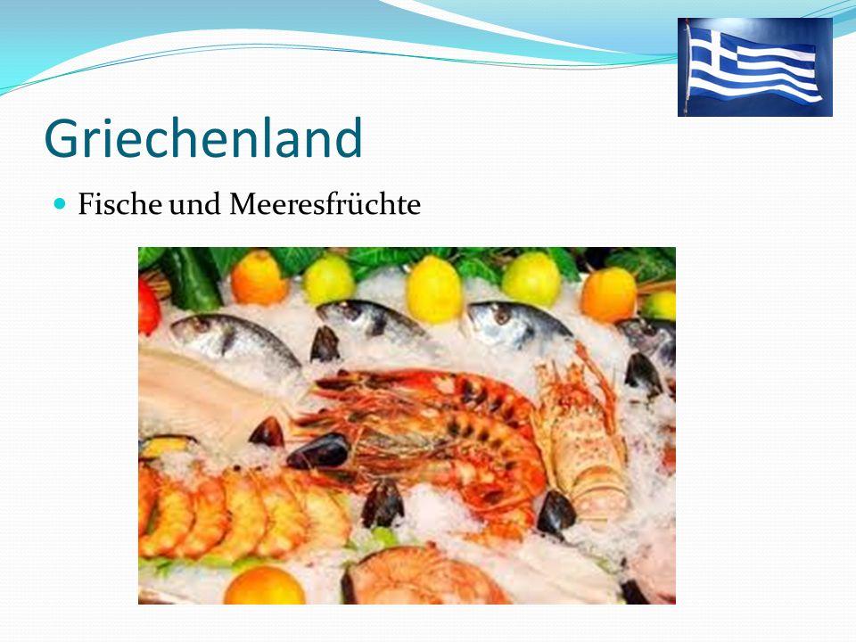 Griechenland Fische und Meeresfrüchte