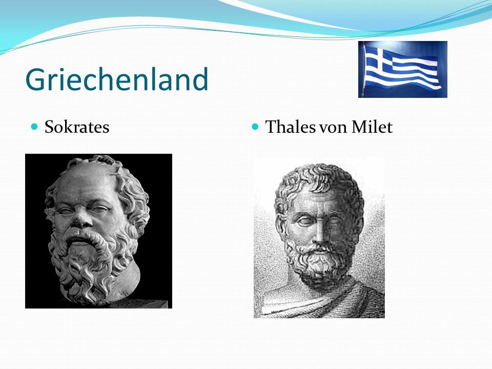 Griechenland Sokrates Thales von Milet