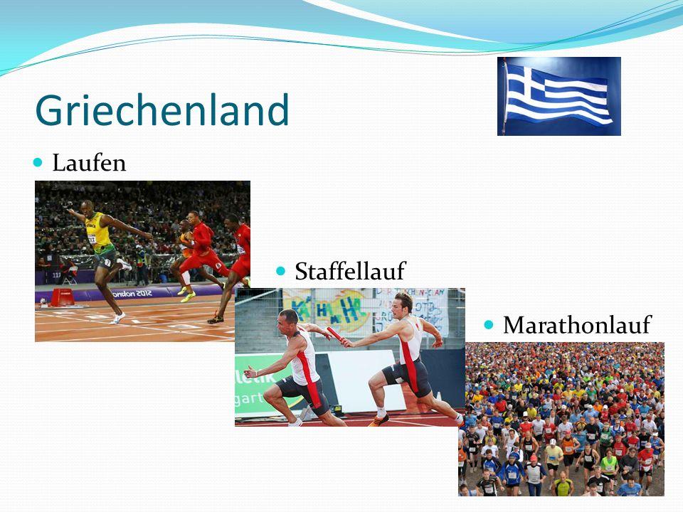 Griechenland Laufen Staffellauf Marathonlauf