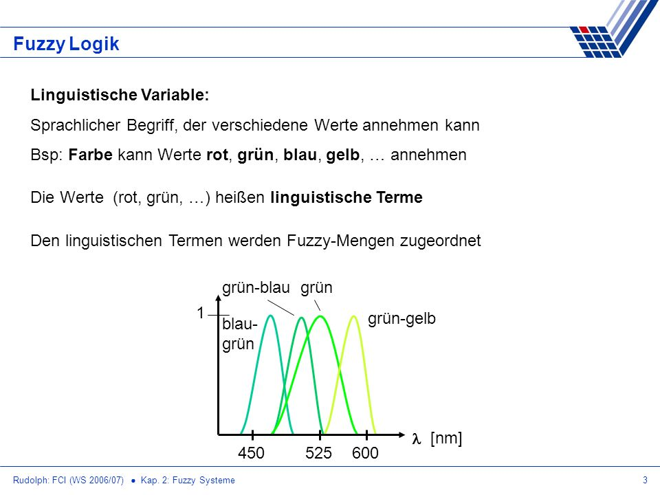 Fuzzy Logik Linguistische Variable: