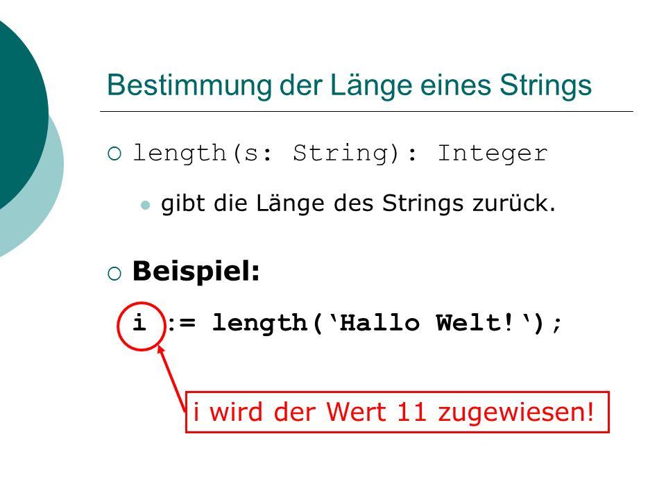 Bestimmung der Länge eines Strings