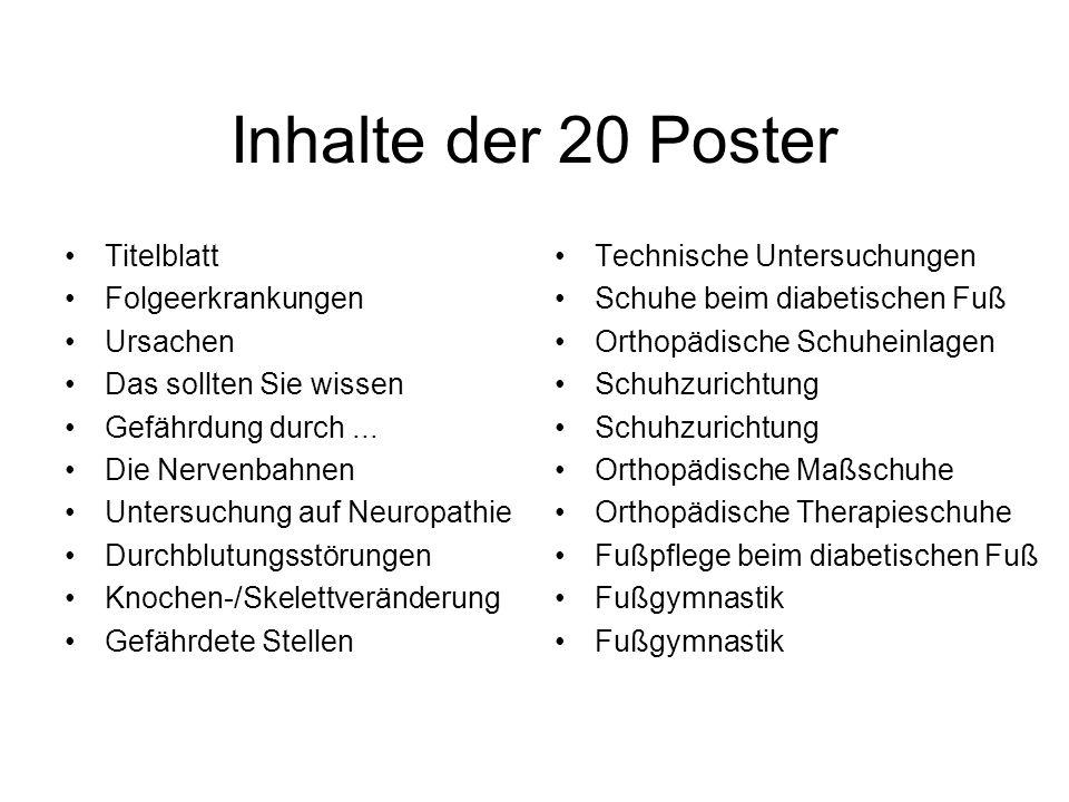 Inhalte der 20 Poster Titelblatt Folgeerkrankungen Ursachen