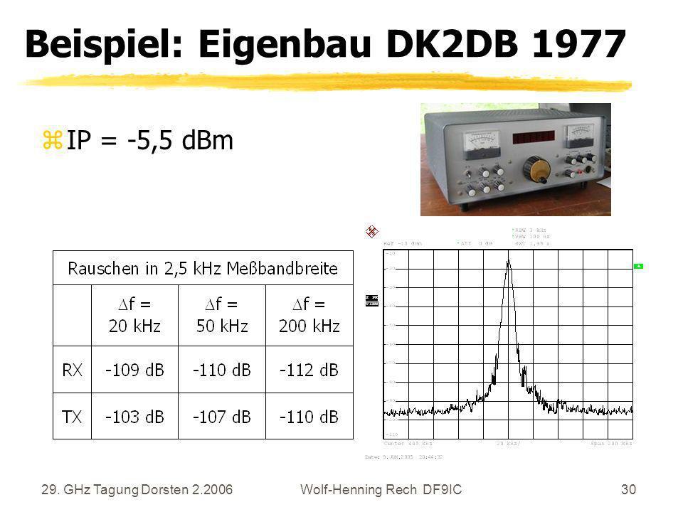 Beispiel: Eigenbau DK2DB 1977