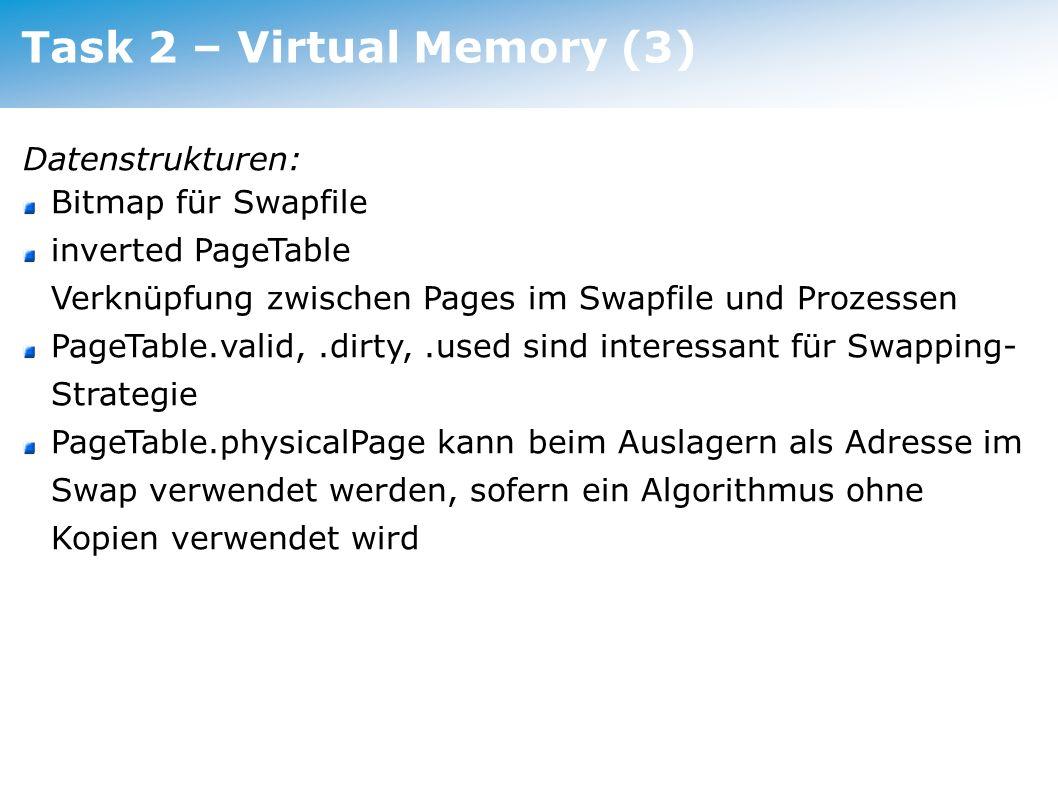 Task 2 – Virtual Memory (3)