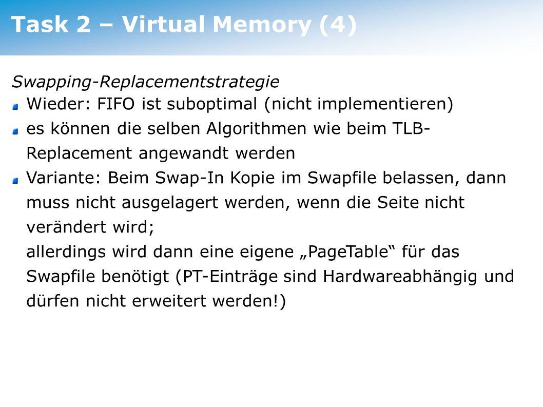 Task 2 – Virtual Memory (4)