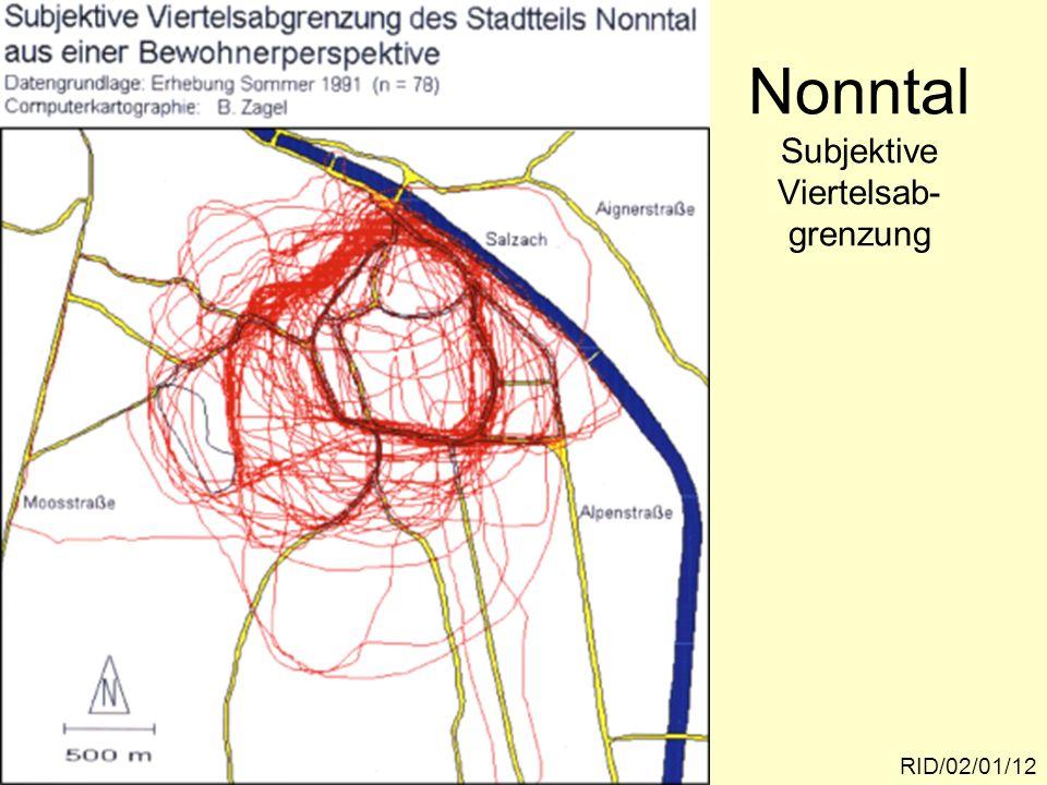 Nonntal Subjektive Viertelsab-grenzung