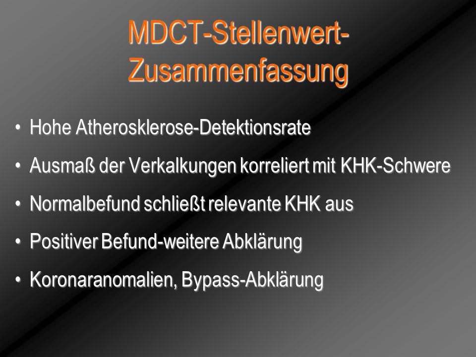 MDCT-Stellenwert-Zusammenfassung