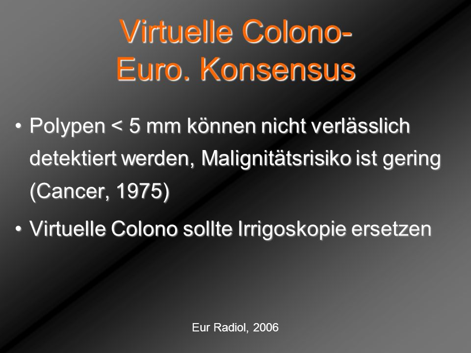 Virtuelle Colono- Euro. Konsensus