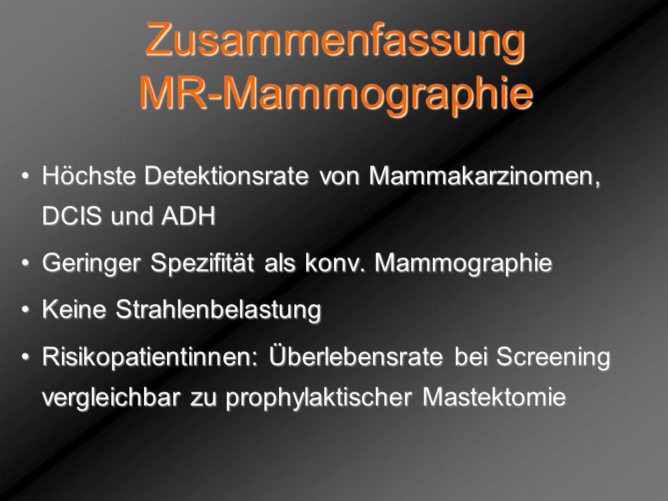 Zusammenfassung MR-Mammographie