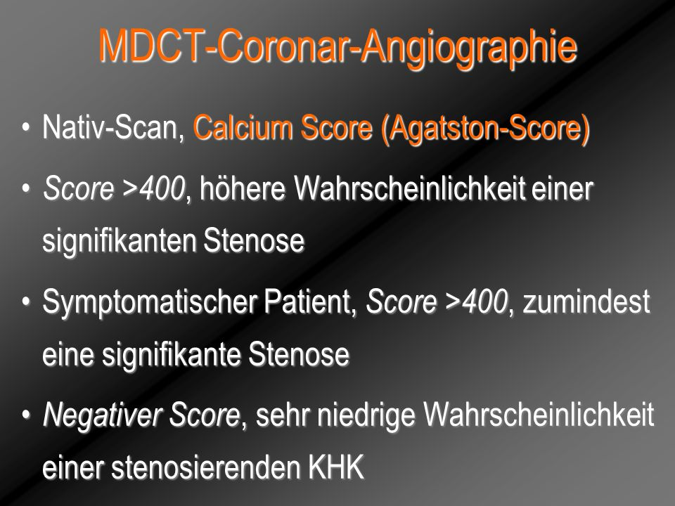 MDCT-Coronar-Angiographie