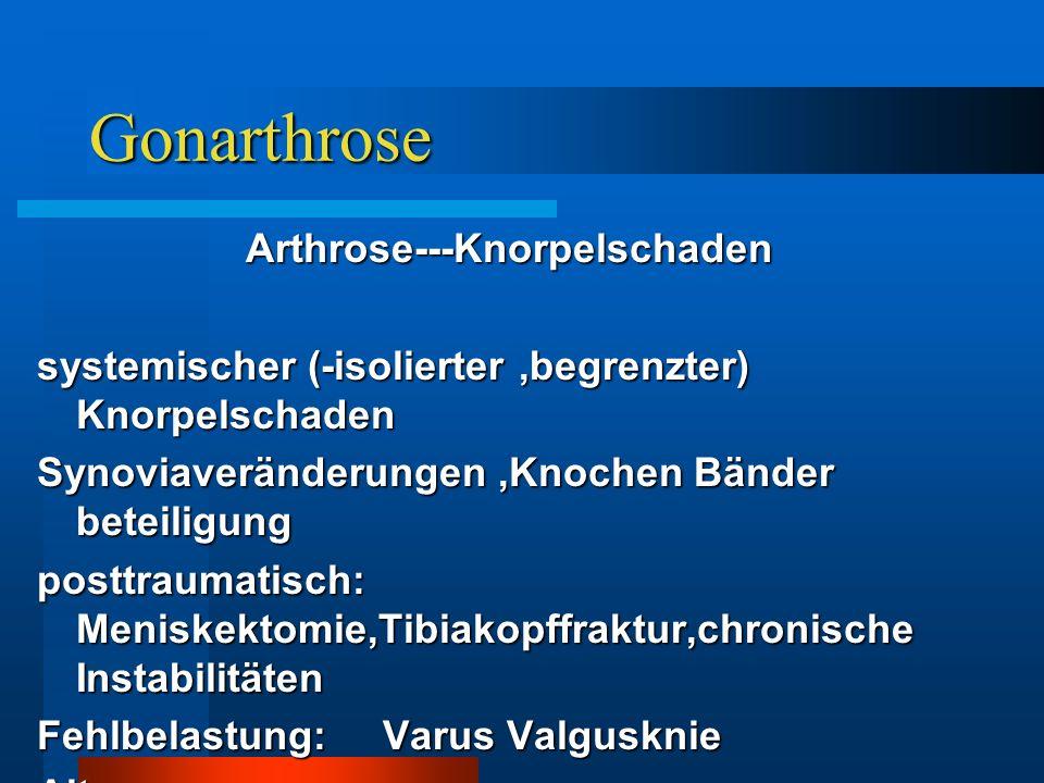 Arthrose---Knorpelschaden