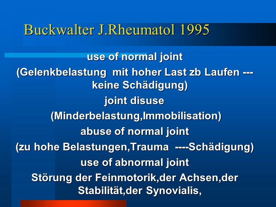 Buckwalter J.Rheumatol 1995
