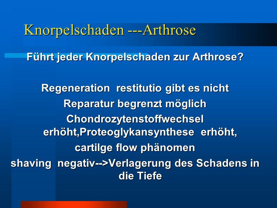 Knorpelschaden ---Arthrose