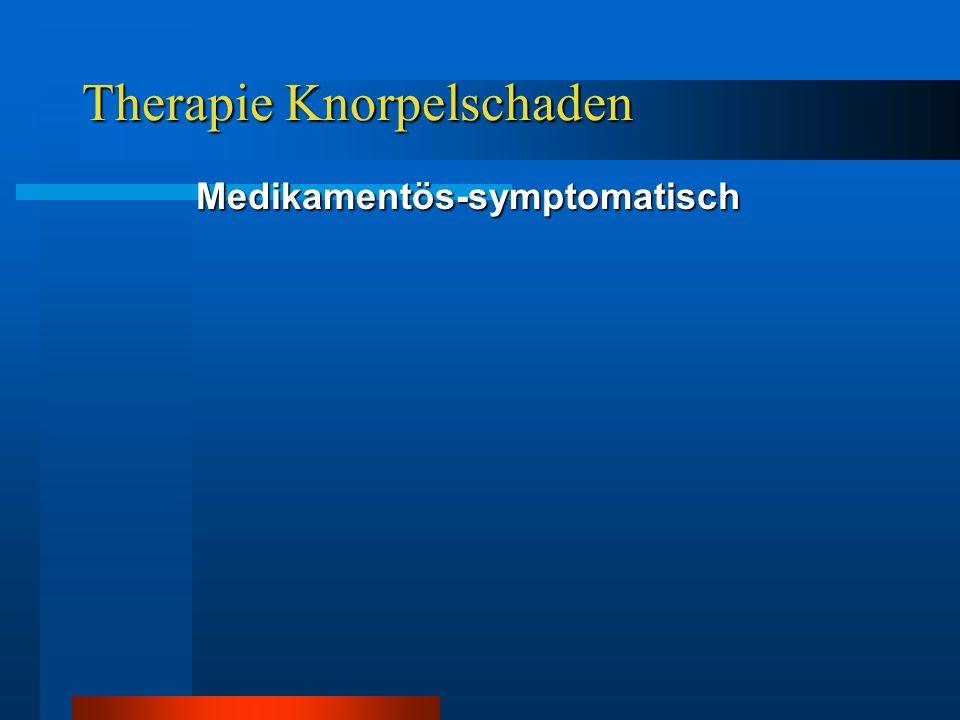 Therapie Knorpelschaden