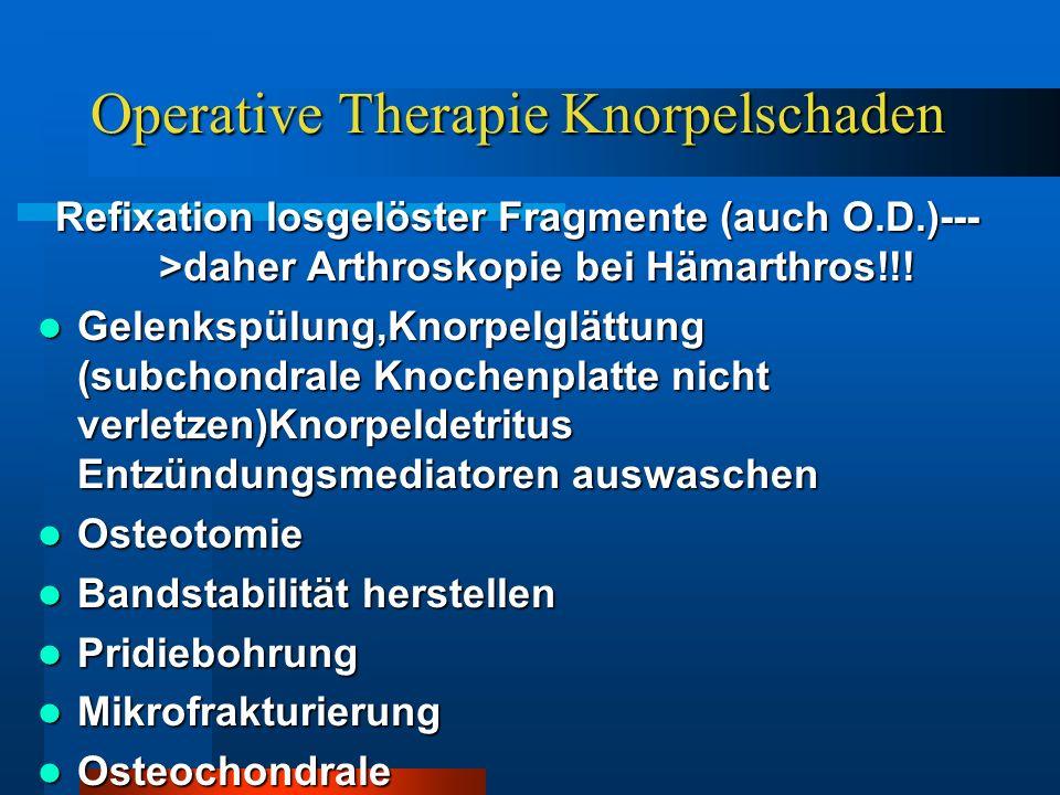 Operative Therapie Knorpelschaden