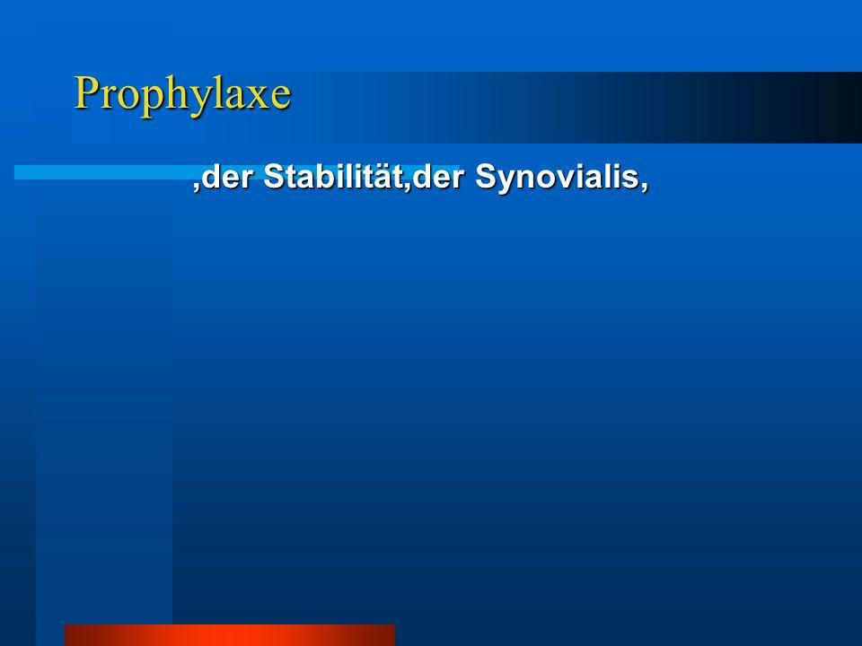 ,der Stabilität,der Synovialis,