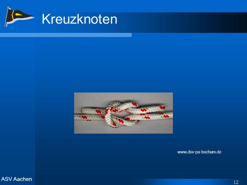 Kreuzknoten www.dsv-pa-bochum.de