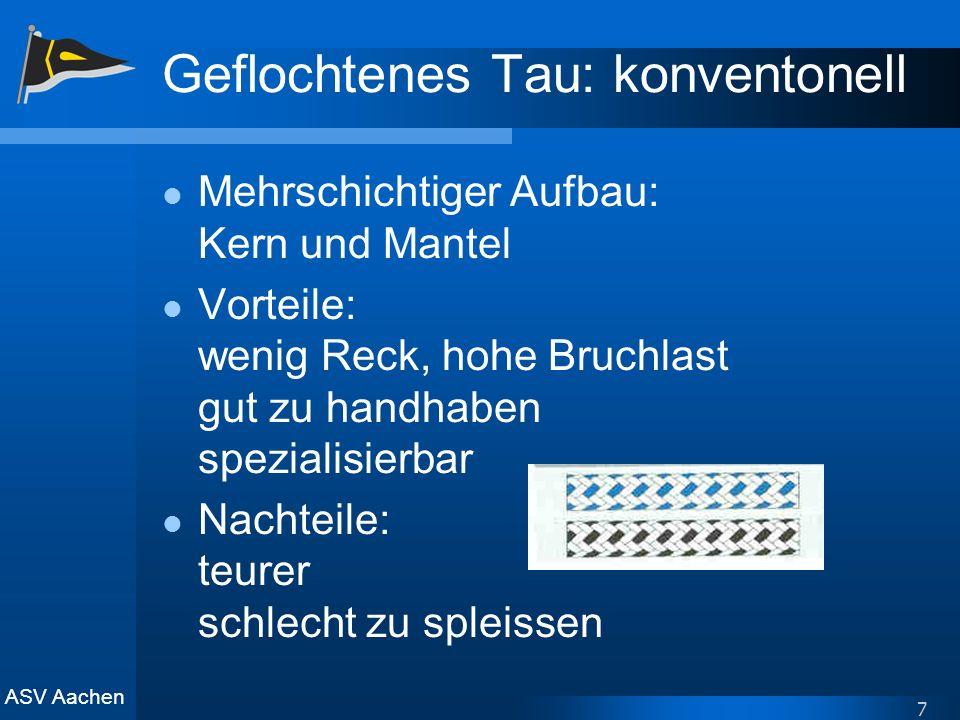 Geflochtenes Tau: konventonell
