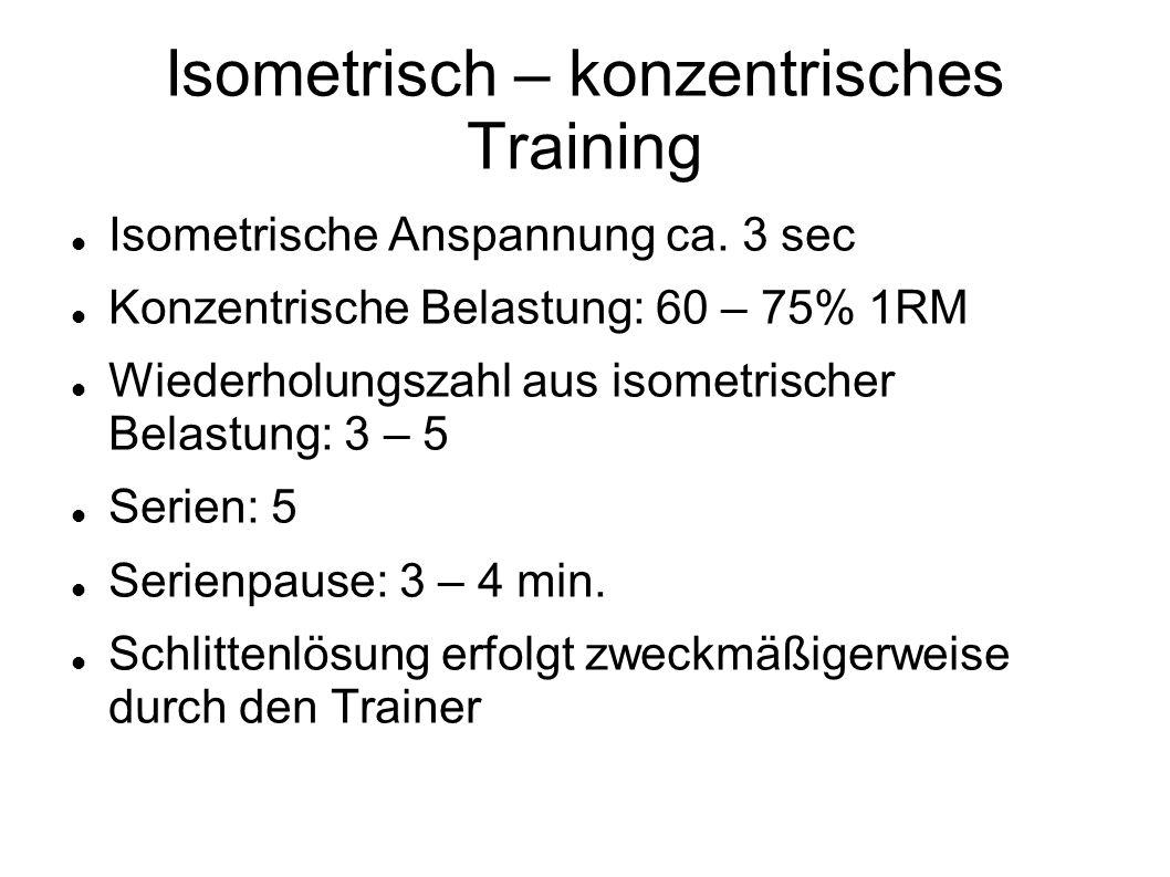 Isometrisch – konzentrisches Training