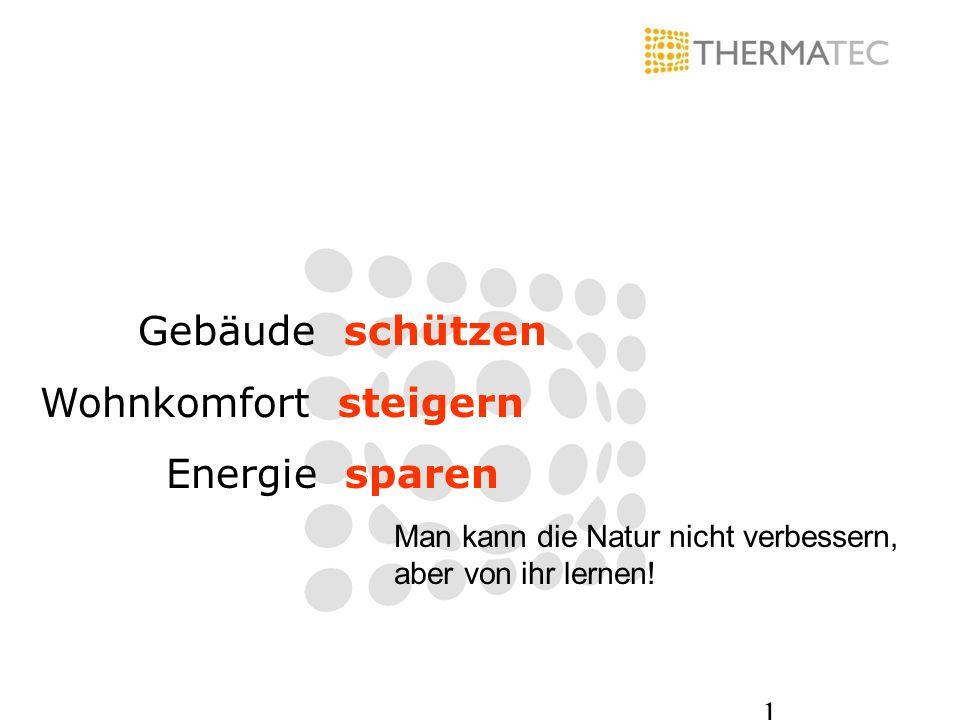 Gebäude schützen Wohnkomfort steigern Energie sparen