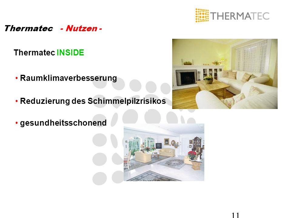 Thermatec - Nutzen - Thermatec INSIDE. Raumklimaverbesserung. Reduzierung des Schimmelpilzrisikos.