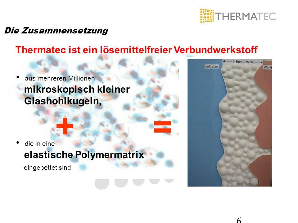 + = Thermatec ist ein lösemittelfreier Verbundwerkstoff