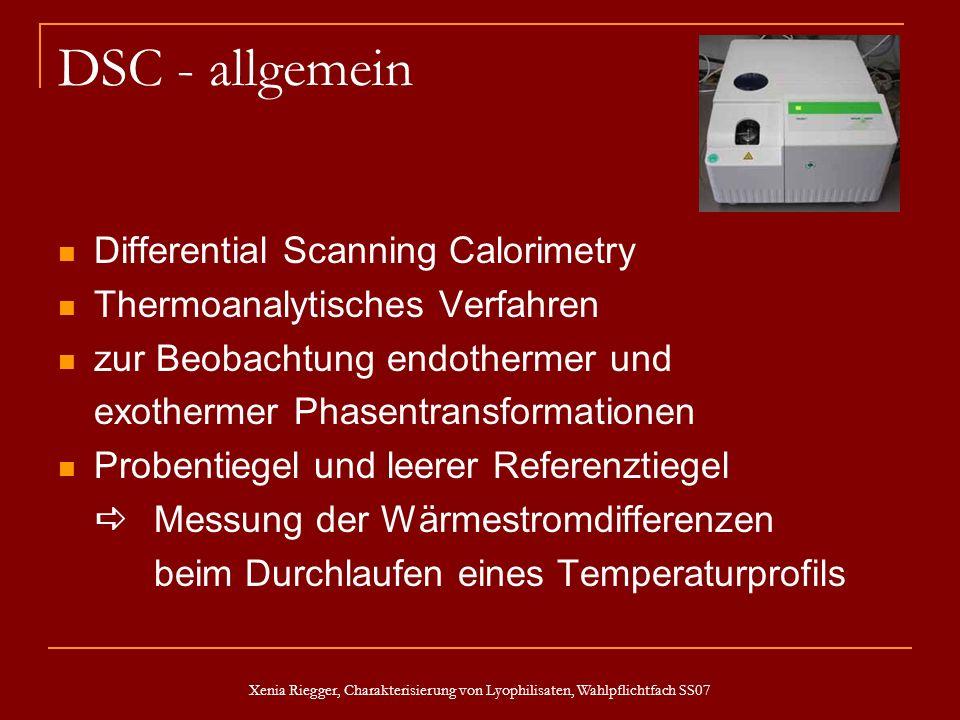 DSC - allgemein Differential Scanning Calorimetry
