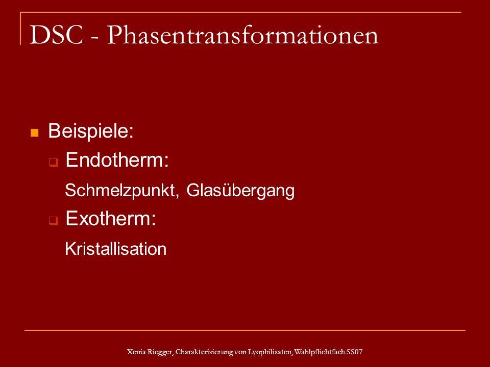 DSC - Phasentransformationen