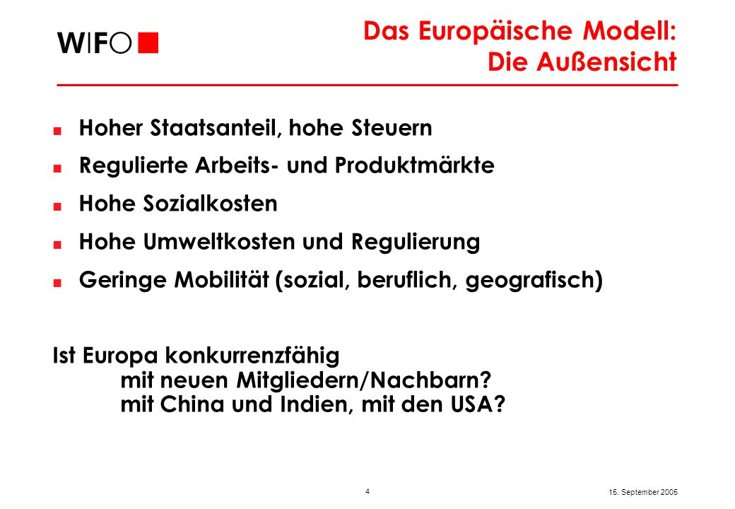 Das Europäische Modell: Die Innensicht