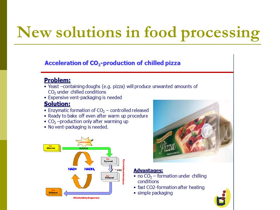 New solutions in food processing