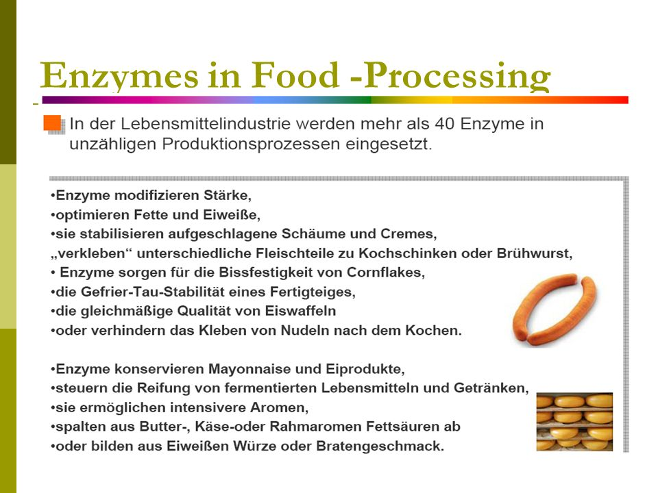 Enzymes in Food -Processing