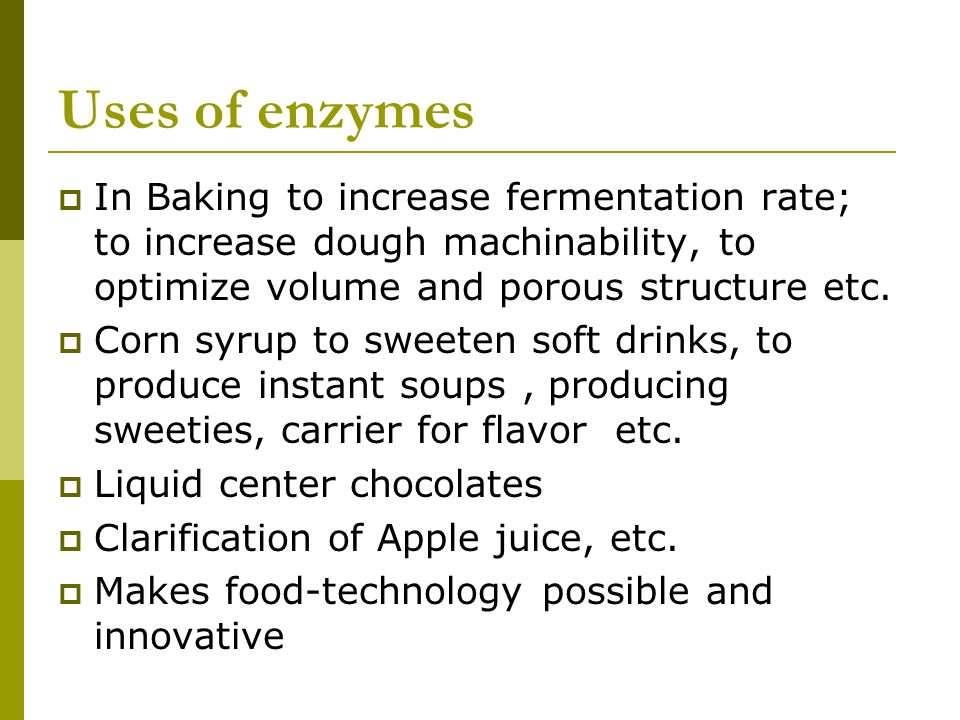 enzymes in baking Fresh baked goods with appealing appearance, good texture, and fewer  chemicals – enzymes can make it happen that's great for consumers - and your .