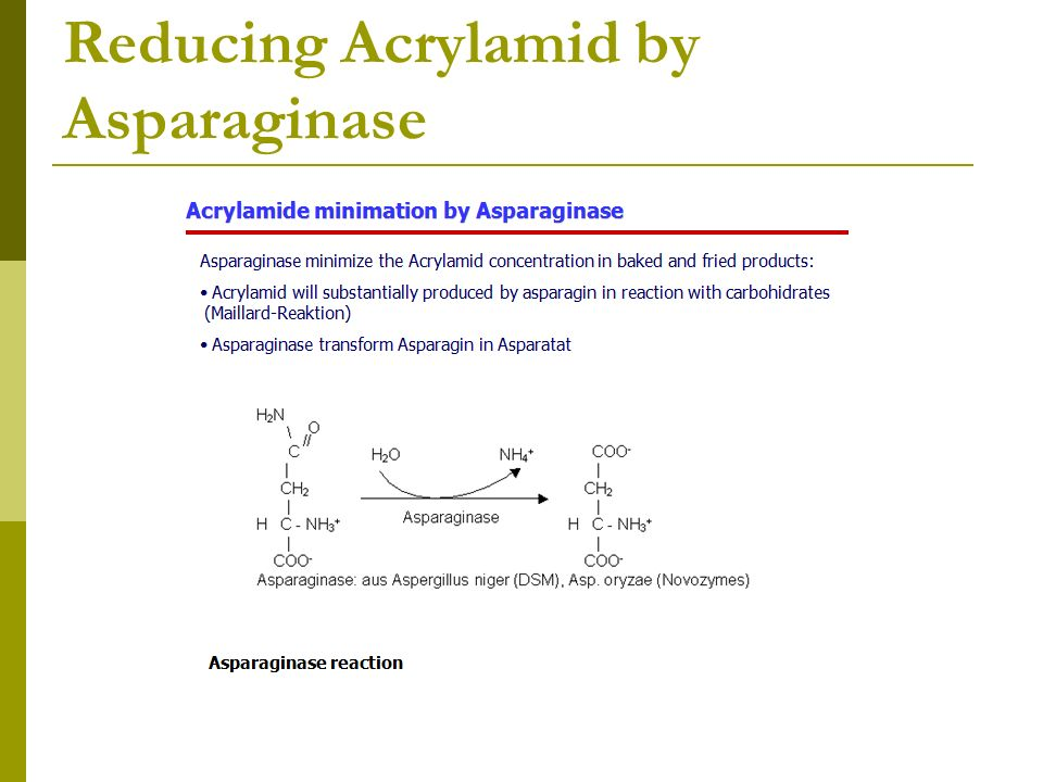 Reducing Acrylamid by Asparaginase