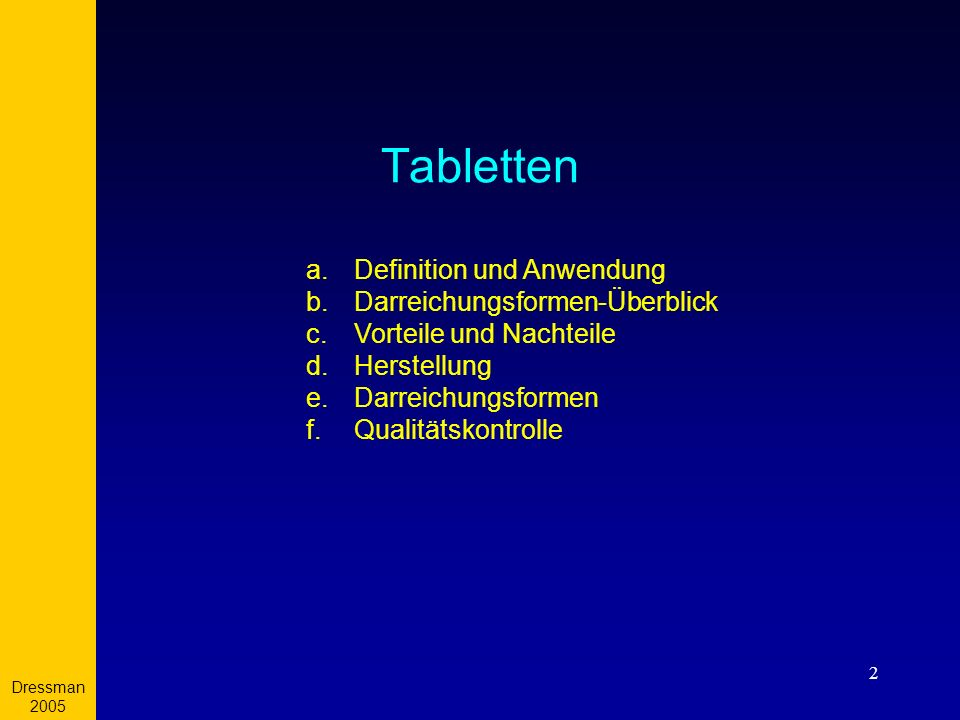 Tabletten Definition und Anwendung Darreichungsformen-Überblick