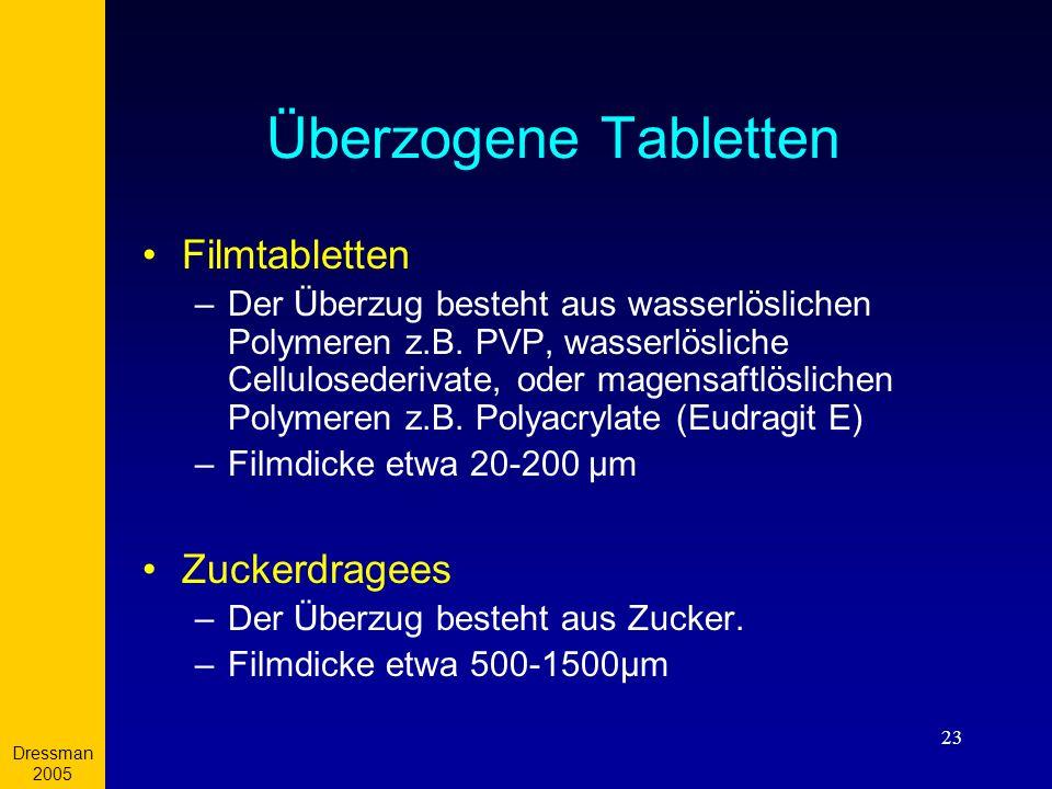 Überzogene Tabletten Filmtabletten Zuckerdragees