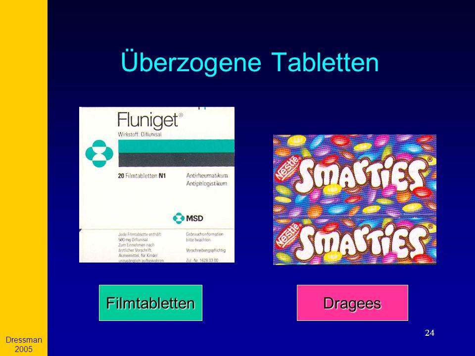 Dressman 2005 Überzogene Tabletten Filmtabletten Dragees