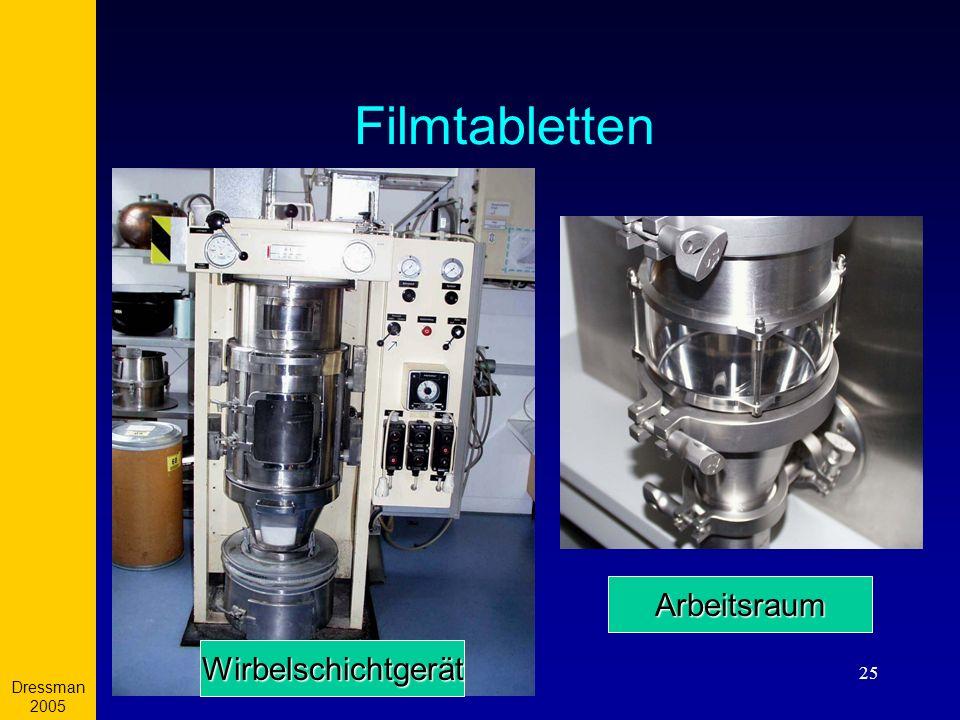 Dressman 2005 Filmtabletten Arbeitsraum Wirbelschichtgerät