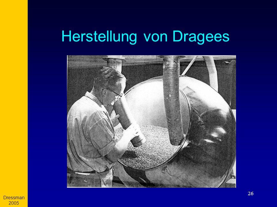 Herstellung von Dragees
