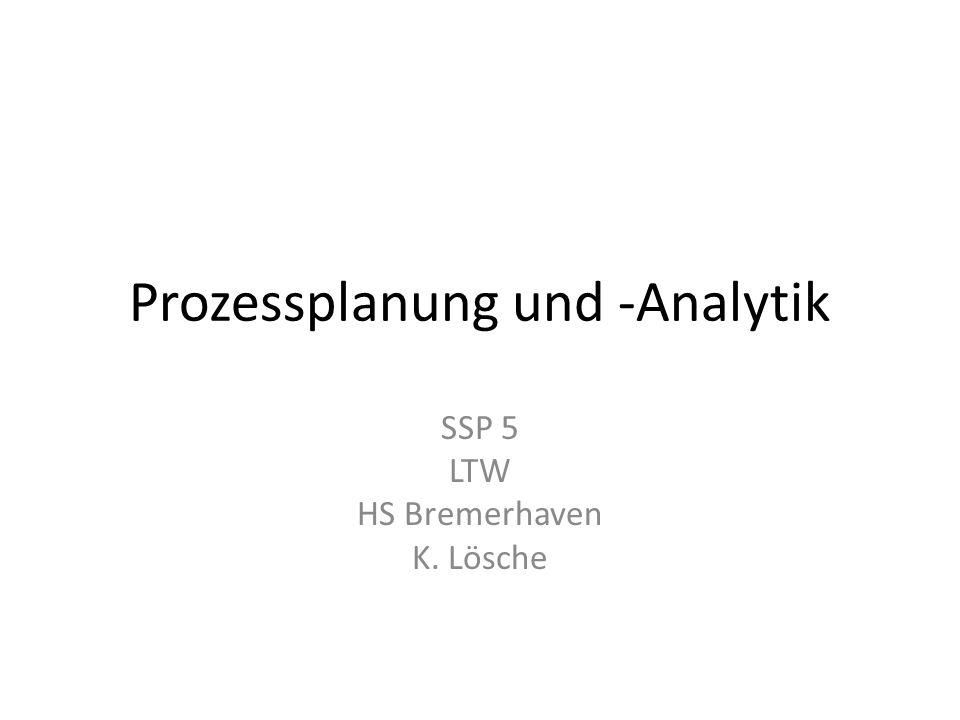 Prozessplanung und -Analytik