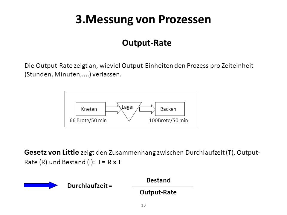 3.Messung von Prozessen Output-Rate
