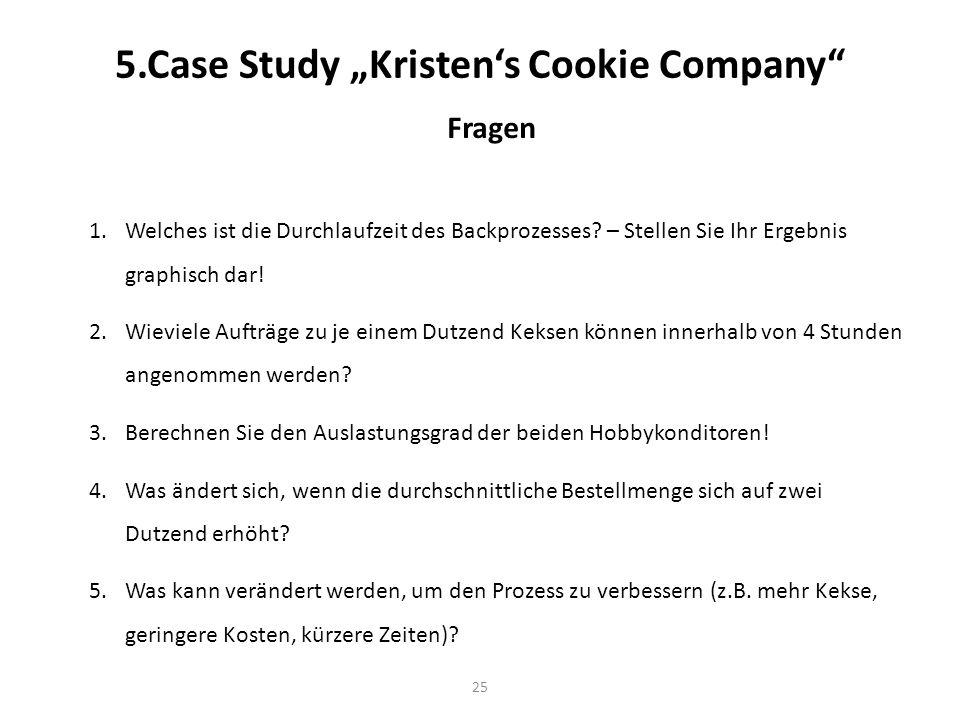"5.Case Study ""Kristen's Cookie Company"